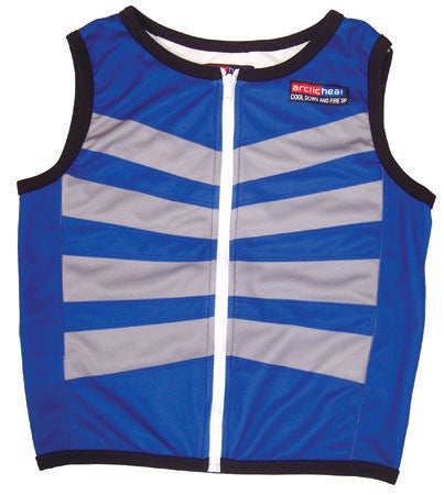 Cooling Vest - Child - Zip Front - Blue - Cool Down Australia