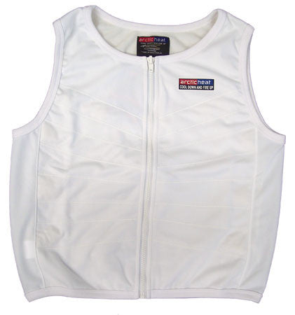 Cooling Vest - Child - Zip Front - White - Cool Down Australia