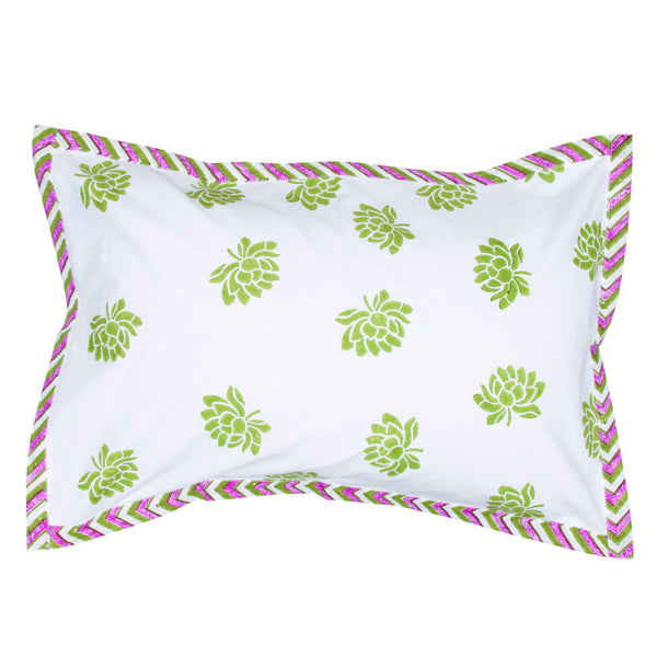 Cot Lotus Range Pillow Cases