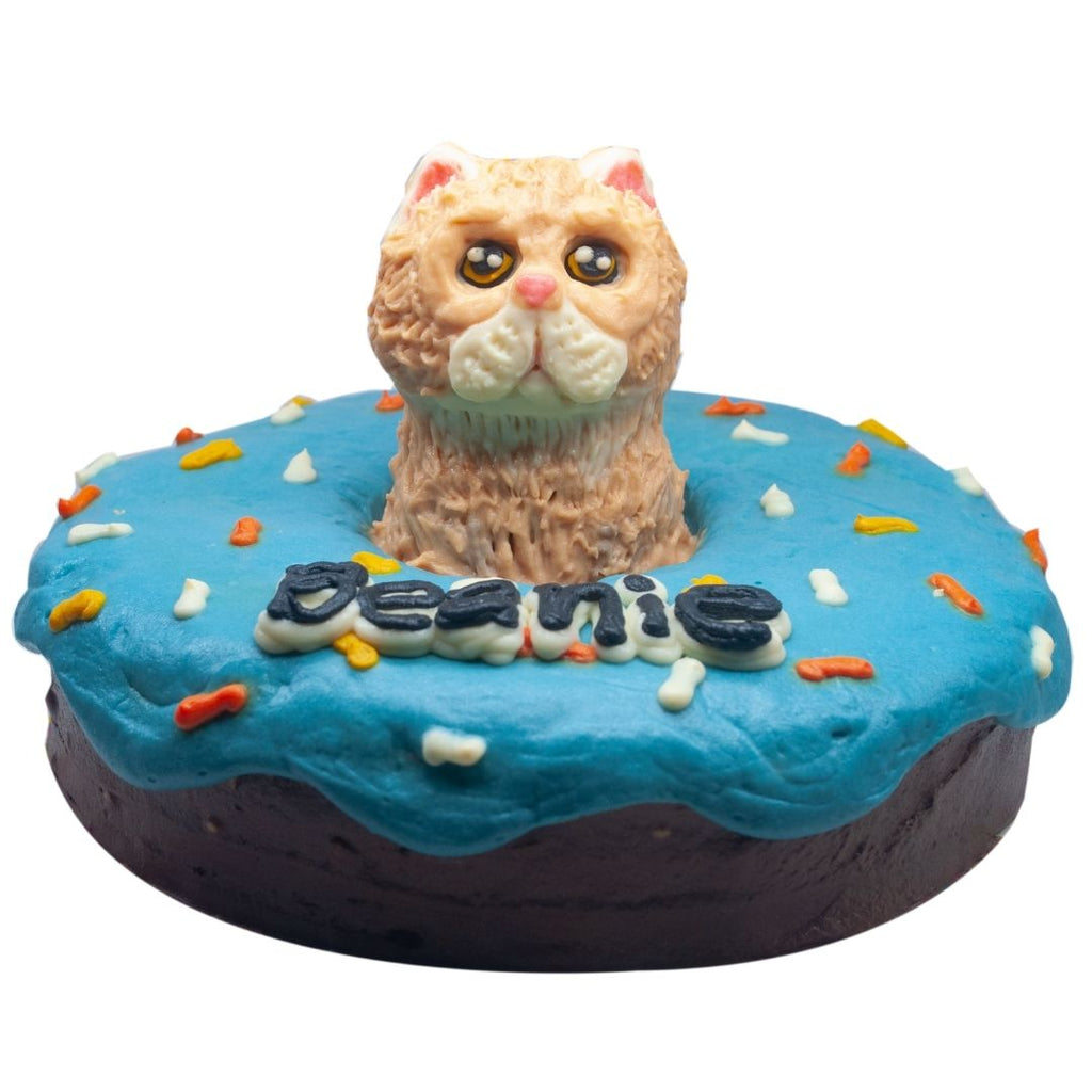 Donut Cake for Cats with 3D Topper 6inch