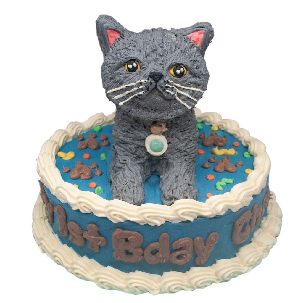 Custom Round Cake for Cats - 6 inches - with 3D Topper - Starts at ₱990