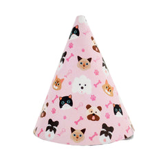 Pawty Hat - Pink Dog and Cat