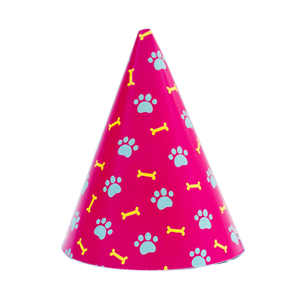 Pawty Hat - Pink Bone and Paw