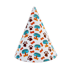 Pawty Hat - White Food Bowl and Collar