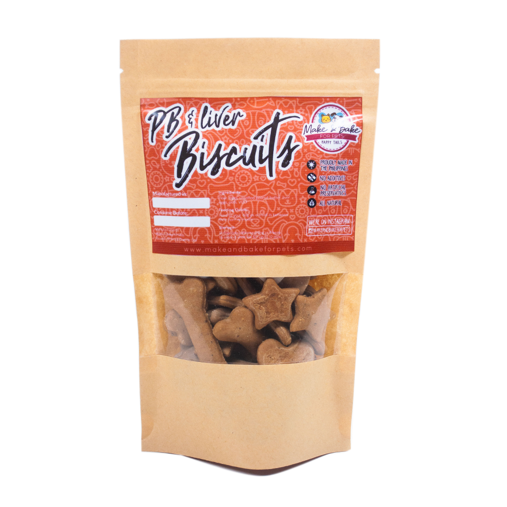 Peanut Butter and Liver Biscuits for Dogs