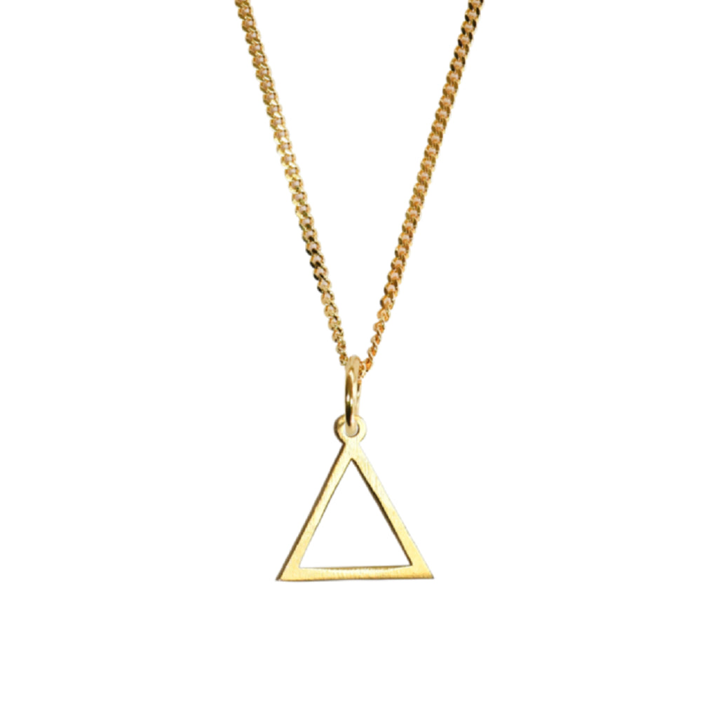 Hollow Triangle Pendant Gold