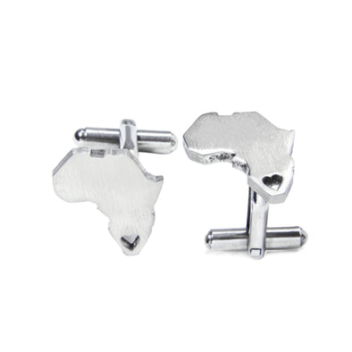 Africa Heart Cuff Links