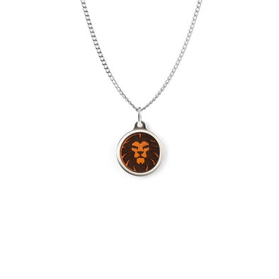 Lion Leather Cased Pendant