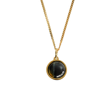 Multi-Tie Gem Stone Cased Pendant Gold