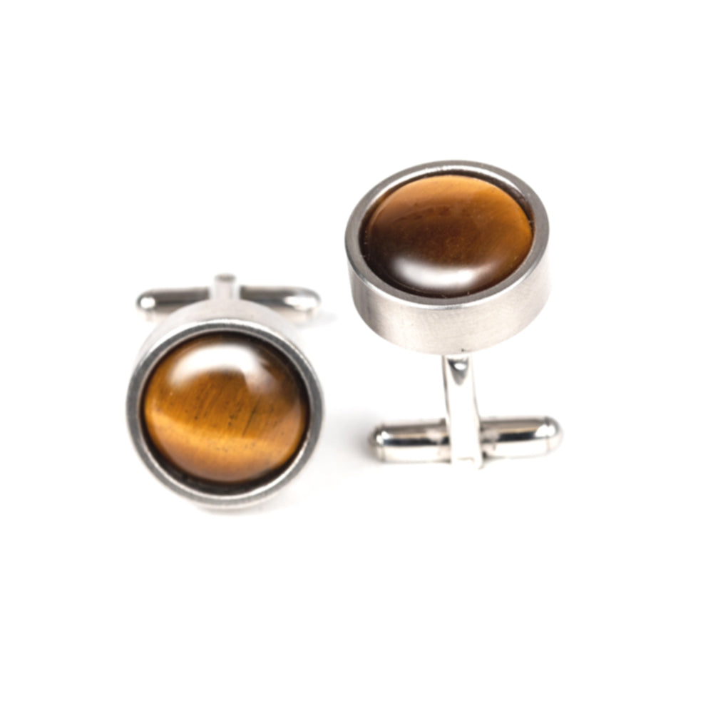 DFS 004 - Tigers Eye Cuff Links