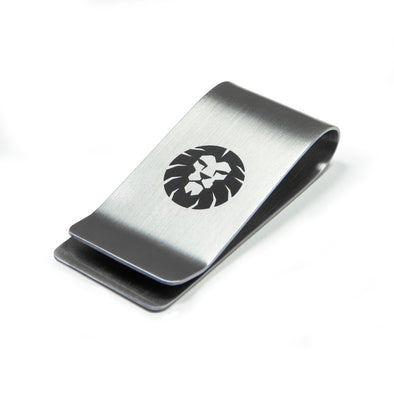 Lion Engraved Money Clip