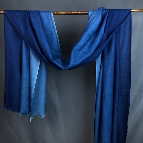 Plain Dark Indigo mask with filter pocket