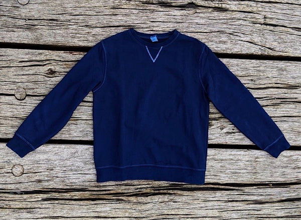 Heavyweight indigo plant dyed cotton sweatshirt