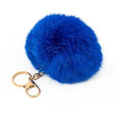 Pom Pom Charm With Crystals in Royal Blue