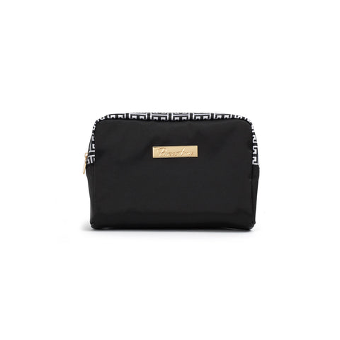 Classic Glamour Black Petite Makeup Bag