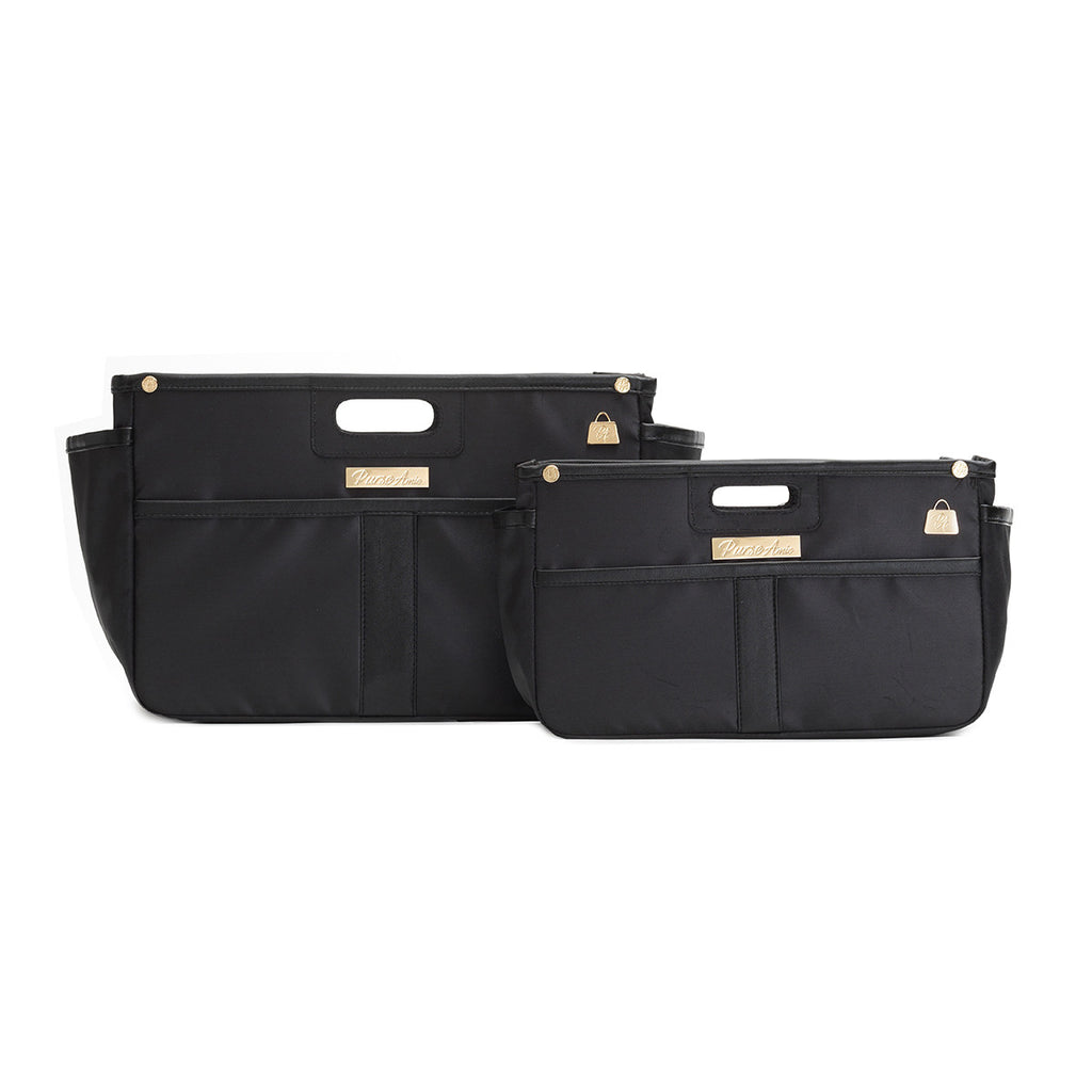 Noir Black Purse Organizer Set (Small and Large)