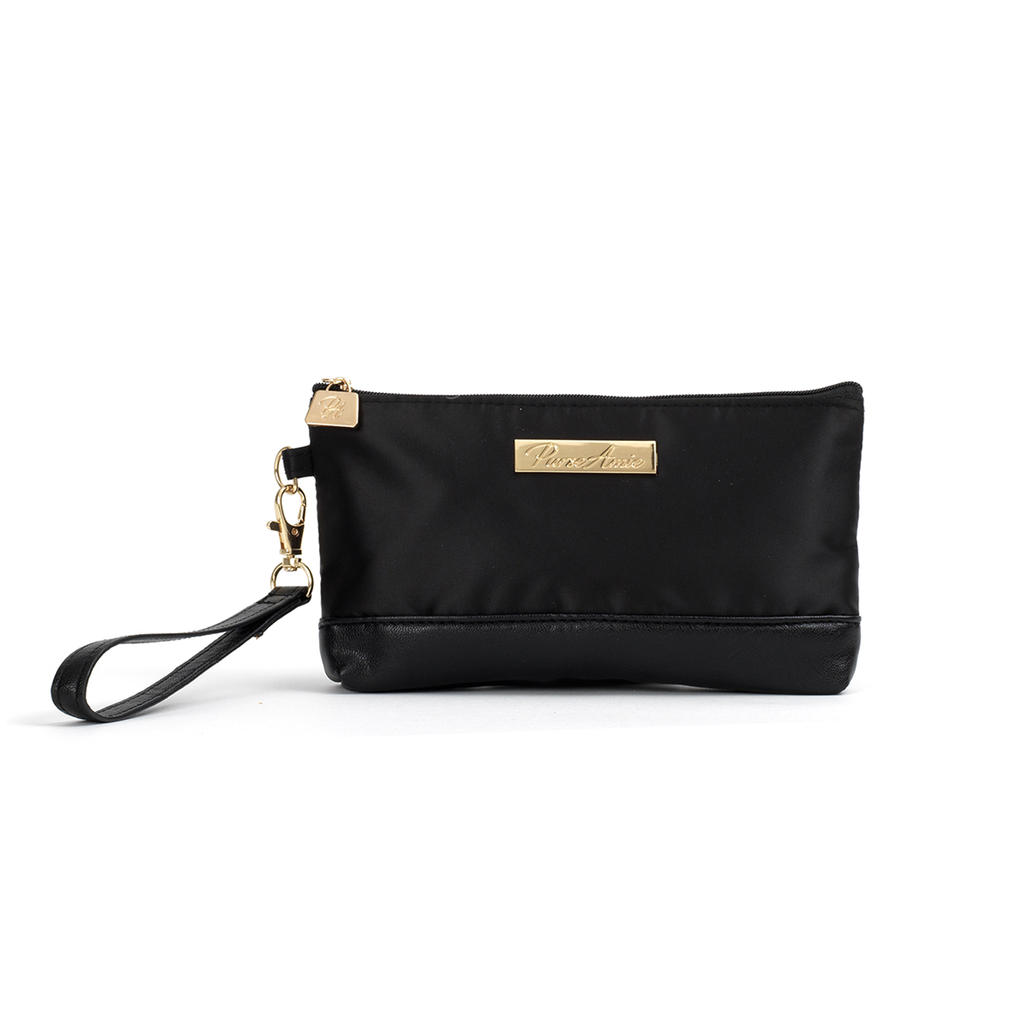 Noir Wristlet Purse (Black)