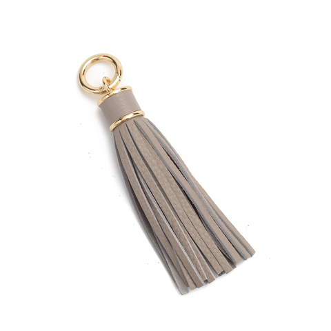 Tassel Bag Charm In Light Gray