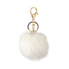 Pom Pom Charm with Crystals in White