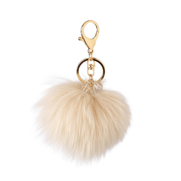 Pom Pom with Crystals in Buff