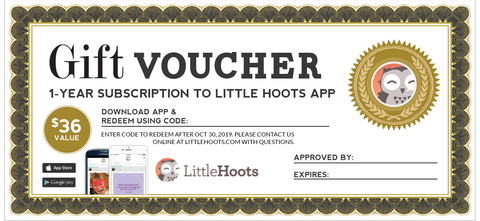 1-year LittleHoots Subscription Gift Certificate