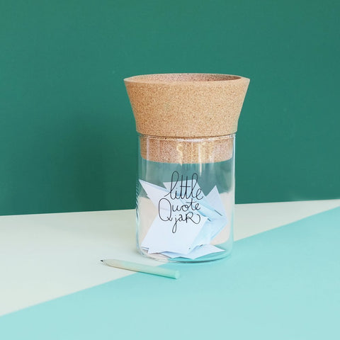 Make History Little Quote Jar