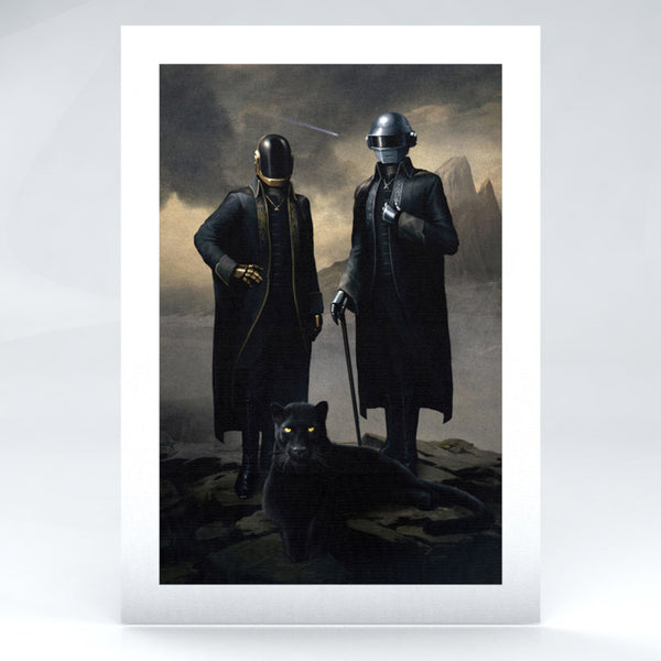 DAFT PUNK LIMITED EDITION PORTRAIT PAINTING