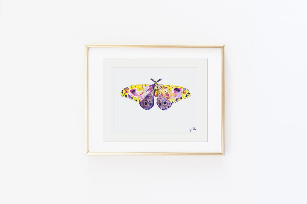 Plum Dawn Moth - Watercolor Wings Collection