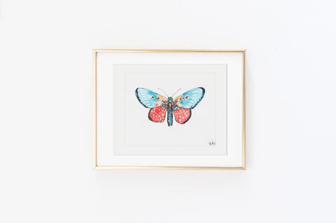 Leopard Sky Luna Moth - Watercolor Wings Collection