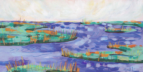 "Blueberry Marsh - 6""x 12"""