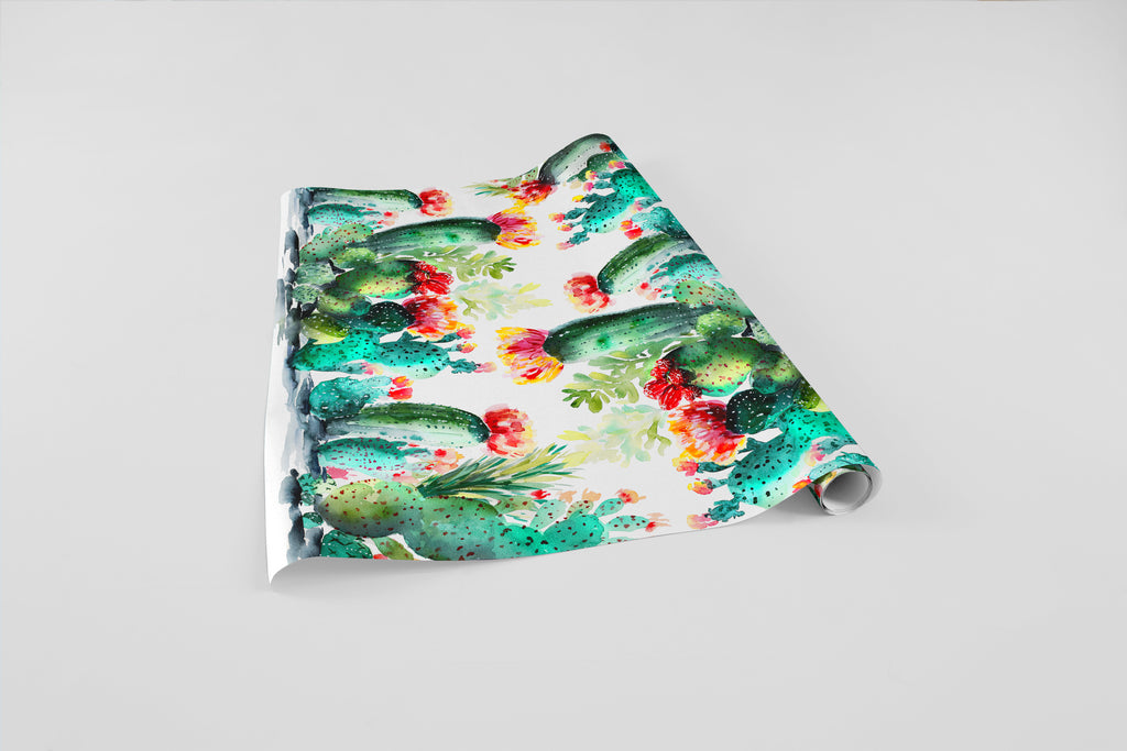 Cacti Bloom Wrapping Paper