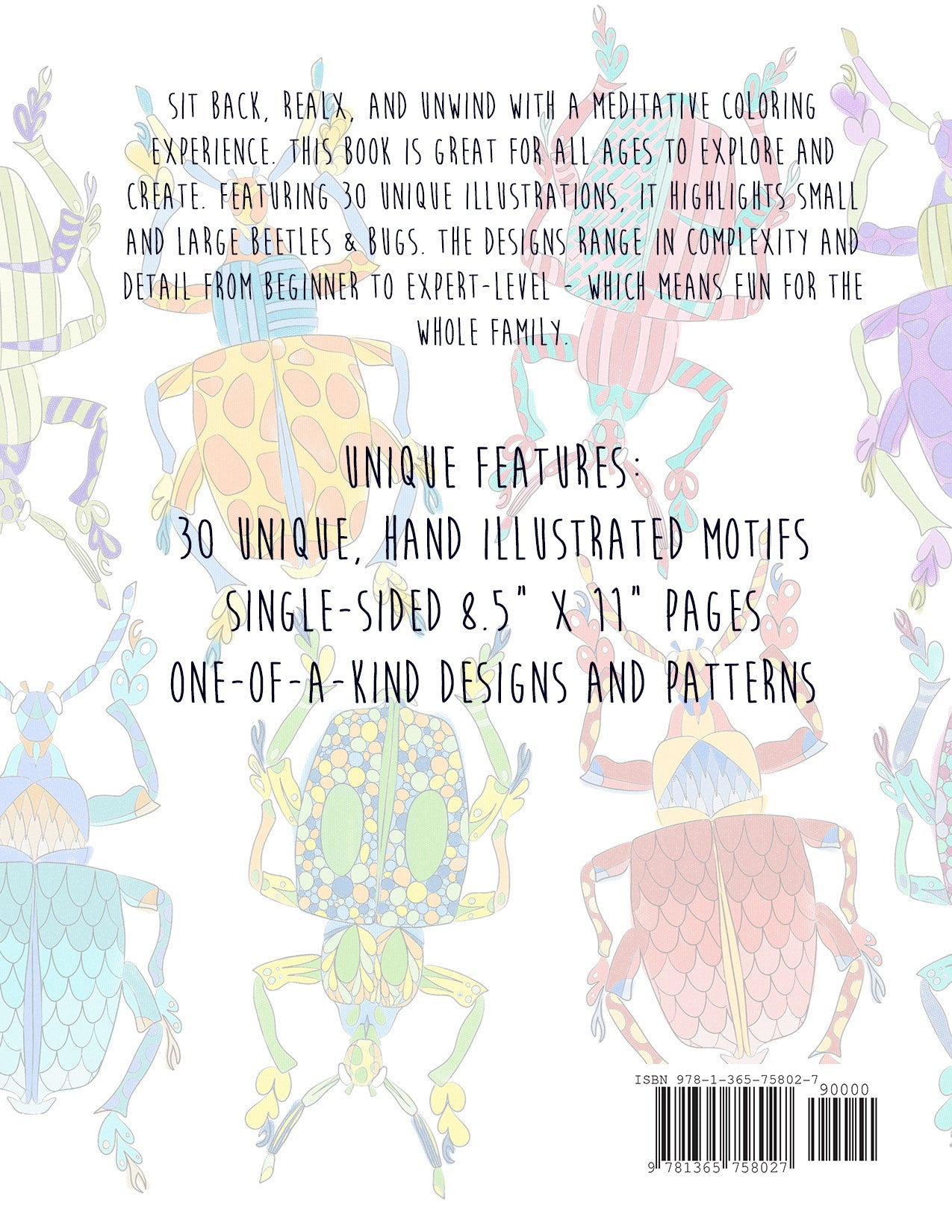 Mindfulness coloring book -  Beetle Bugs A Mindfulness Coloring Book For All Ages