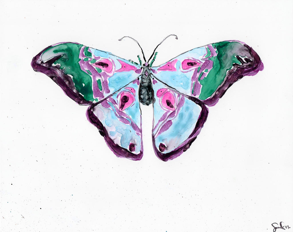 Mulberry Luna Moth - Watercolor Wings Collection