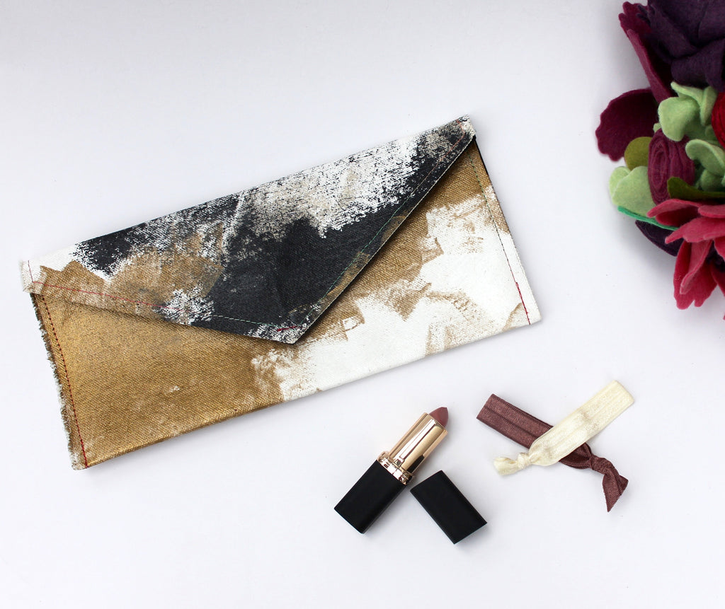 Modern Gold Envelope Clutch