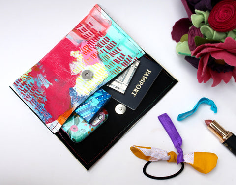 Technicolor Dream Envelope Clutch