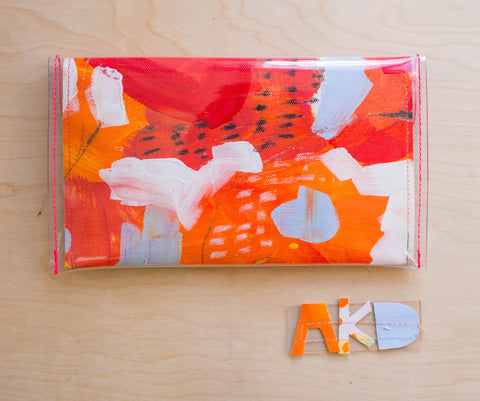 Handmade Clutch Purse from Original Abstract Painting