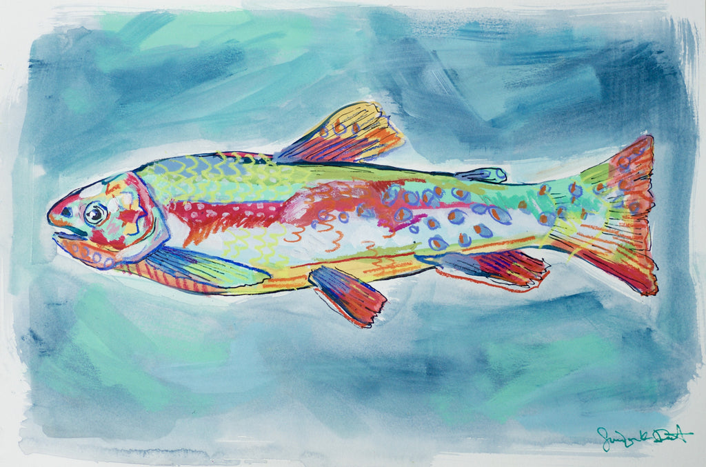 Confetti Rainbow Trout - Little Fishes Collection