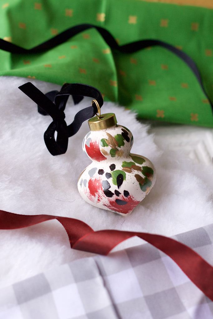 Holly No. 7  - Hand Painted Holiday Ornament - Holidays 2016