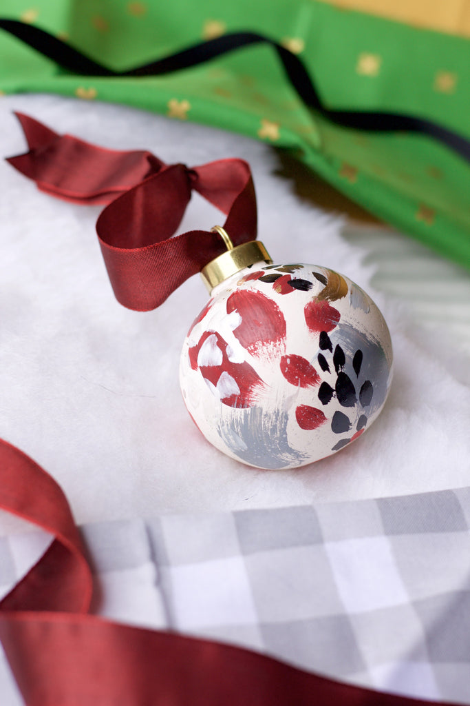 Holly No. 1  - Hand Painted Holiday Ornament - Holidays 2016