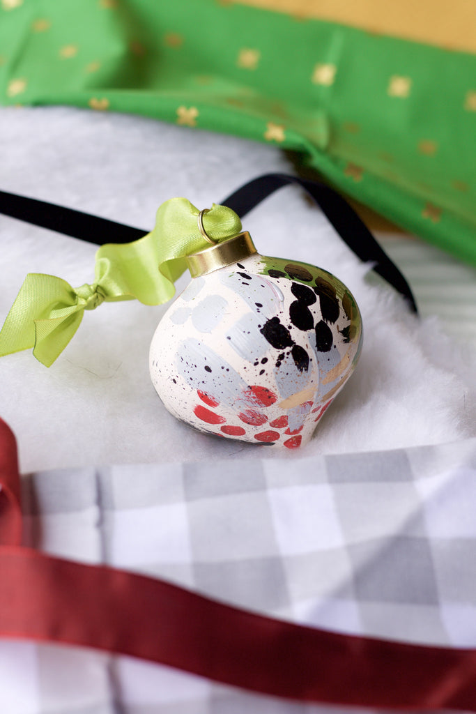 Holly No. 4  - Hand Painted Holiday Ornament - Holidays 2016