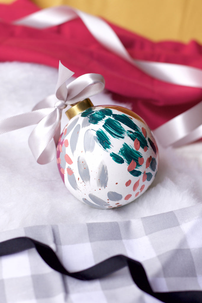 Lucky No. 3 - Hand Painted Holiday Ornament - Holidays 2016