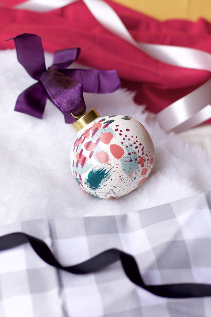 Lucky No. 8 - Hand Painted Holiday Ornament - Holidays 2016