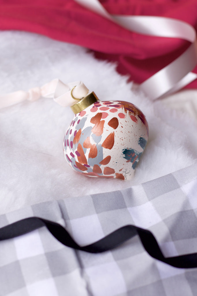 Lucky No. 5 - Hand Painted Holiday Ornament - Holidays 2016