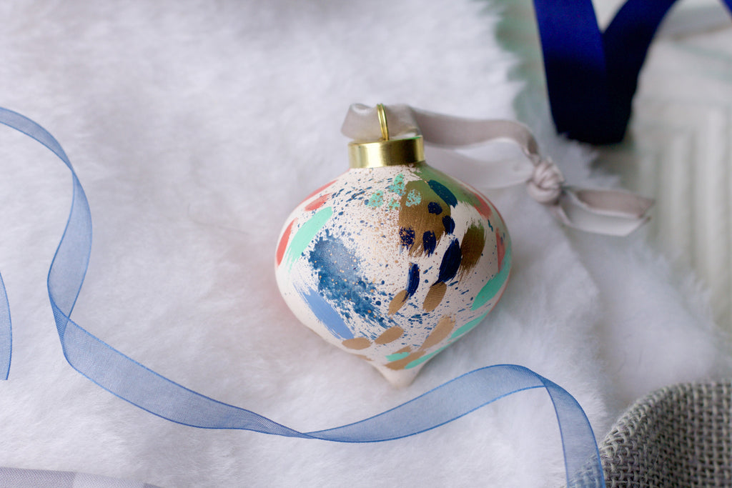 Fireworks No. 6  - Hand Painted Holiday Ornament - Holidays 2016