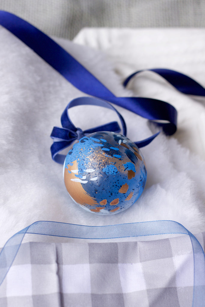 Glacier No. 5  - Hand Painted Holiday Ornament - Holidays 2016