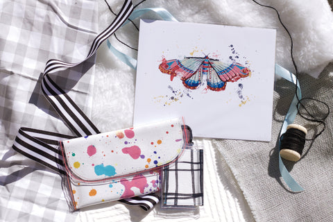 Tiny Clutch, Art Print and Tiny Wallet - Gift Set - Holidays 2016