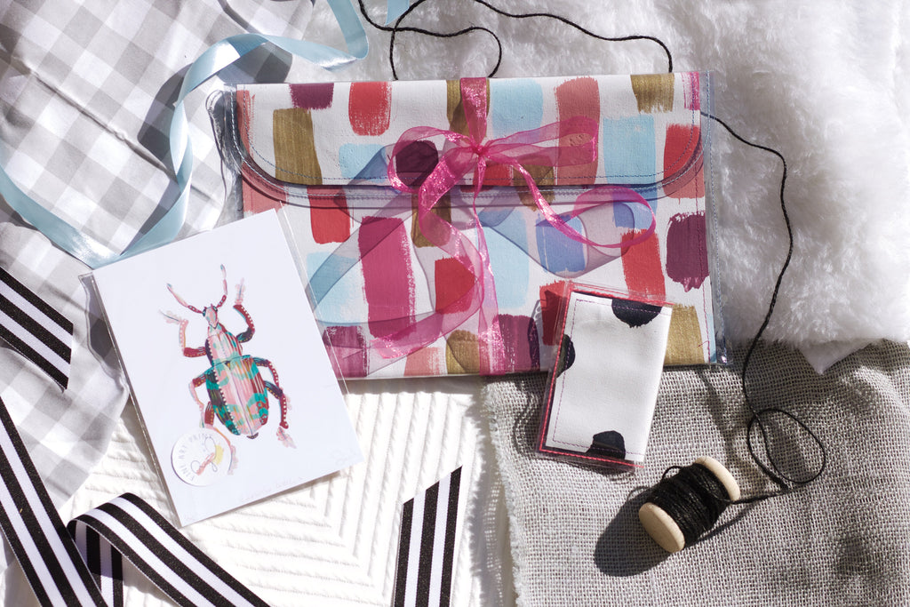 XL Crossover Bag, Art Print and Tiny Wallet - Gift Set - Holidays 2016