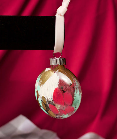 Crackle No. 11 - Hand Painted Holiday Ornament - Holidays 2016