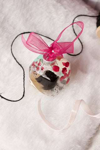 Crackle No. 8 - Hand Painted Holiday Ornament - Holidays 2016
