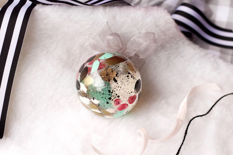 Crackle No. 5 - Hand Painted Holiday Ornament - Holidays 2016